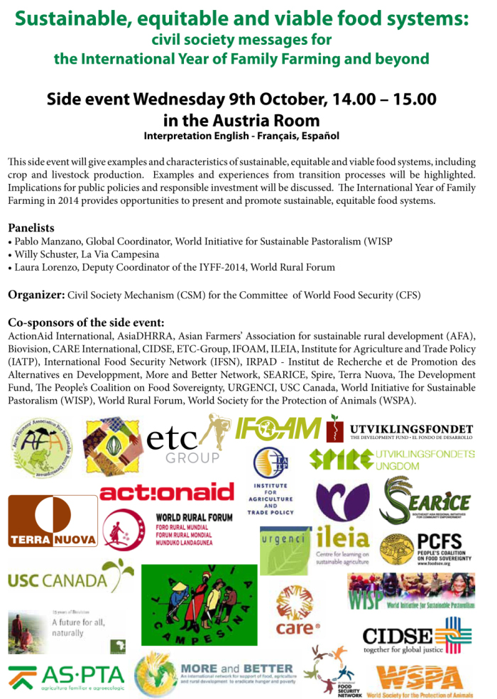 CFS Rome Side Event