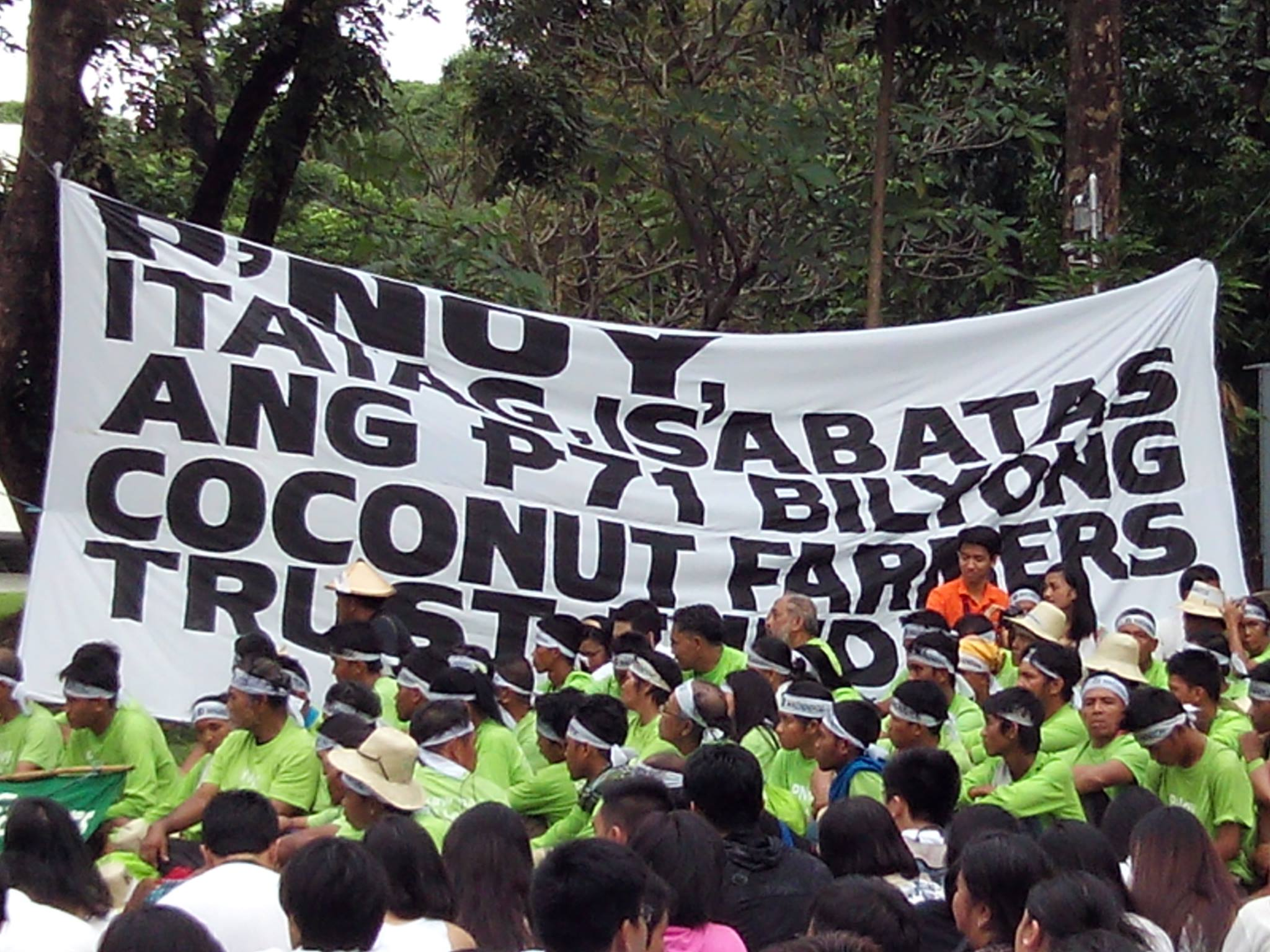 coconut farmes' march for justice