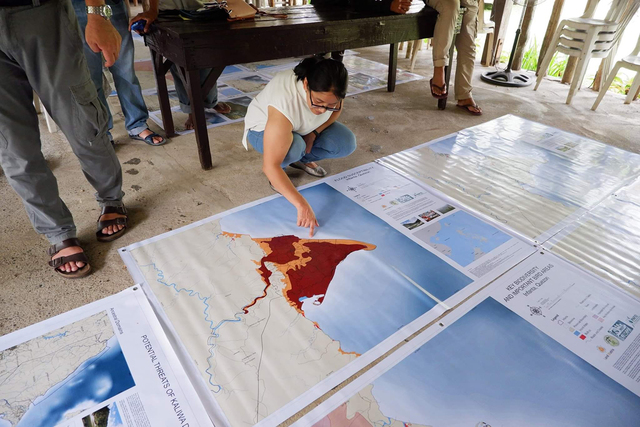 IP leaders use advocacy maps to show how Kaliwa Dam will impact them